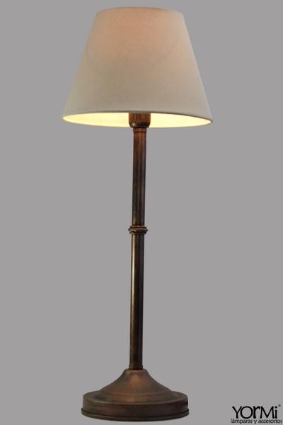 Lámpara Mesa Tubo Con Sombra