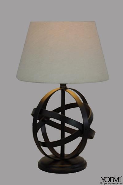 Lámp. Mesa esfera pequeña con sombra