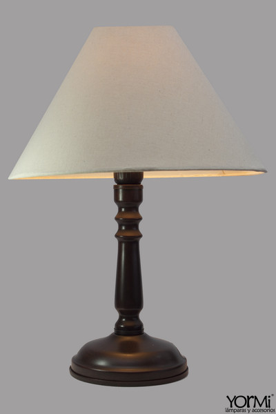 Lámpara Mesa Sencilla Grande Con Sombra