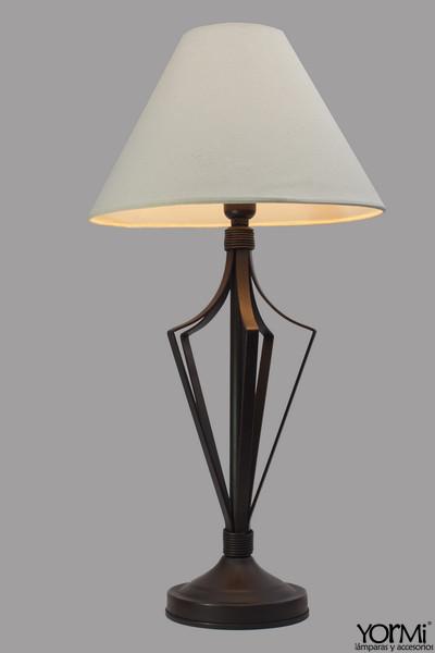 Lámpara Mesa Piña Cobre Con Sombra